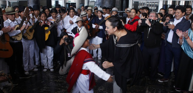 Preparan Fiesta del Sol. Población de Imbabura invita a Gabriela Rivadeneira