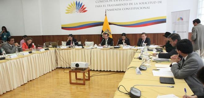Comisión que analiza el proyecto de Enmienda Constitucional - Foto Archivo