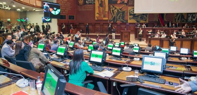 Pleno destituyó a Sofía Espín con 94 votos por incompatibilidad de funciones