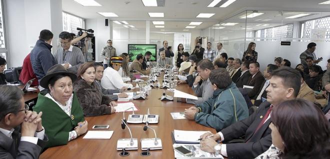 La Comisión de Biodiversidad analiza el proyecto de Ley de la Circunscripción Territorial Especial Amazónica. Foto - Archivo