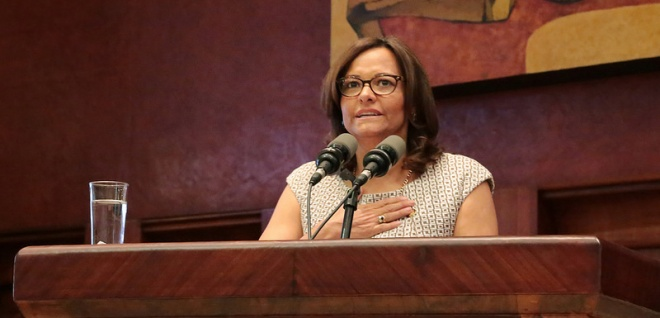 Elizabeth Cabezas, presidenta de la Asamblea Nacional. Foto - Archivo