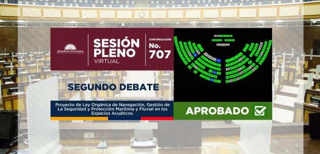 Asamblea aprueba nueva normativa para garantizar la seguridad de la navegación y la protección marítima ecuatoriana