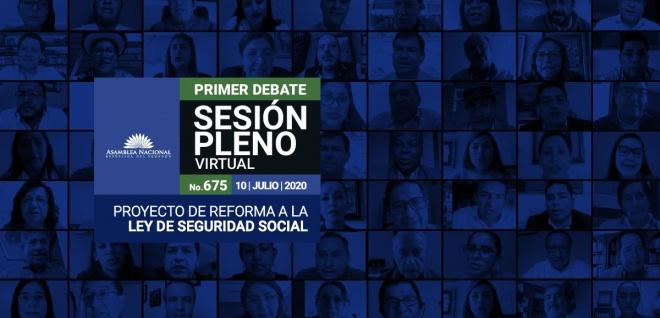 Sesión del Pleno 675,  primer debate del proyecto de Ley Reformatoria a la Ley de Seguridad Social, referente a la base del cálculo de pensiones jubilares
