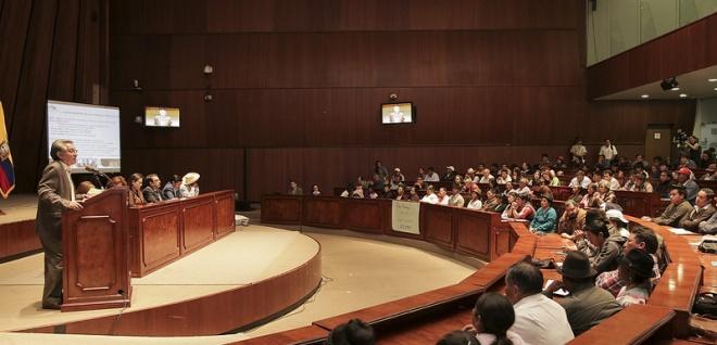 Amplio interés concitó la Ley de Semillas en audiencia pública en Pichincha