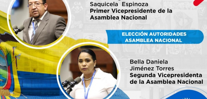 Parlamento elige a Virgilio Saquicela y Bella Jiménez como vicepresidentes