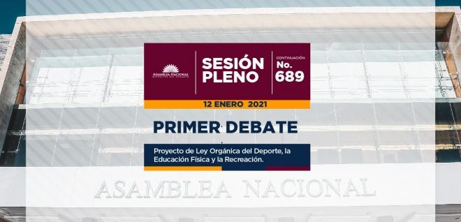Pleno dio paso al primer debate del proyecto de Ley de Deporte