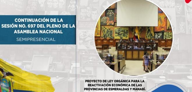 Pleno tramitó en segundo debate proyecto para la reactivación de Esmeraldas y Manabí