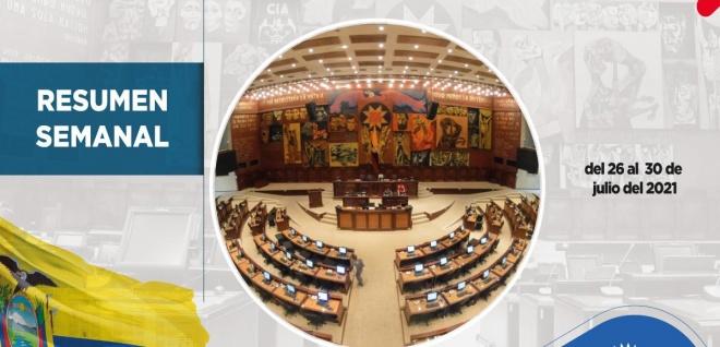 La aprobación de la Ley para reactivar a Esmeraldas y Manabí y el trabajo en territorio marcan la gestión de la Asamblea