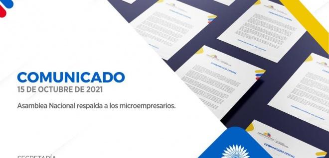 Asamblea Nacional respalda a los microempresarios