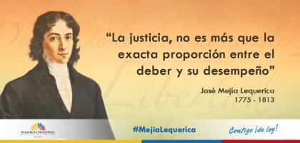 Conmemoración del bicentenario del fallecimiento de José Mejía Lequerica