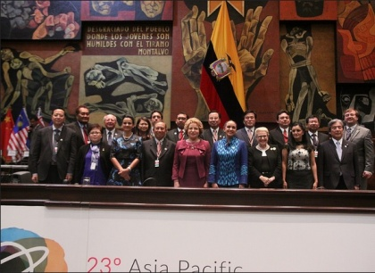 Ecuador propone a parlamentos de Asia y Pacífico afianzar el multilateralismo
