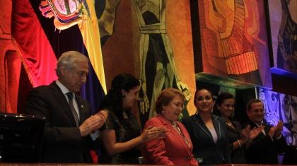 Michelle Bachelet recibe condecoración Manuela Sáenz por parte de Asamblea Nacional