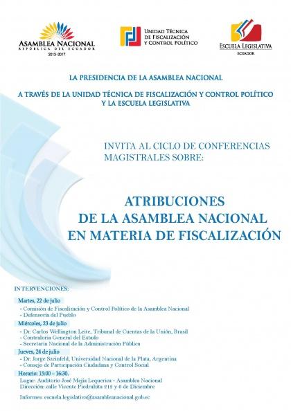 """"""" ATRIBUCIONES DE LA ASAMBLEA NACIONAL, EN MATERIA DE FISCALIZACIÓN"""""""