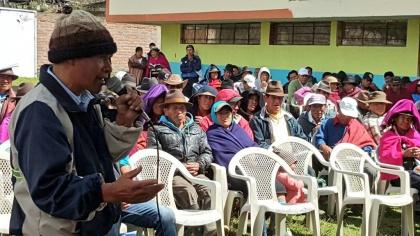 Rosa Elvira Muñoz invita a pobladores de Licto a inscribirse en consulta de semillas
