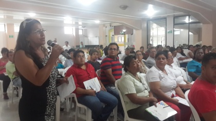 Johanna Cedeño socializa proyecto de reforma a Ley de Economía Popular y Solidaria