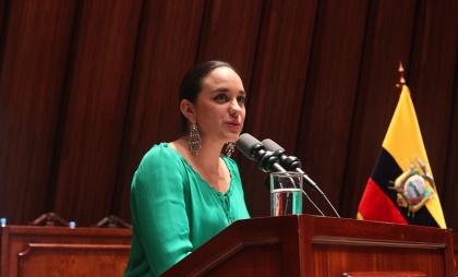 Presidenta de la Asamblea Nacional, Gabriela Rivadeneira Foto - Archivo