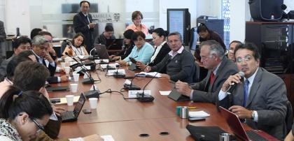 Con representantes de Unicef, Visión Mundial, de la Organización de Estados Iberoamericanos (OEI) y del Consejo Nacional de la Niñez y Adolescencia, la Comisión de Educación hizo un primer balance