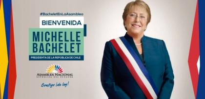 """Presidenta de Chile recibirá condecoración """"Manuela Sáenz"""" en la Asamblea Nacional"""