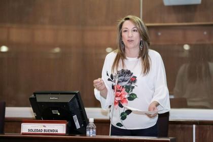 Asambleísta Soledad Buendía, presidenta de la Comisión de Desarrollo Económico