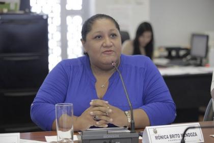 Asambleísta Mónica Brito, vicepresidenta de la Comisión de Participación Ciudadana y Control Social. Foto - Archivo