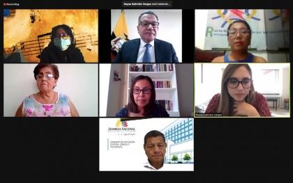 Reforma LOEI, UNE, Frente 13 de Abril, Red de Maestros