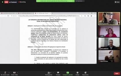 Justicia, reforma penal Anticorrpción, sesión 131