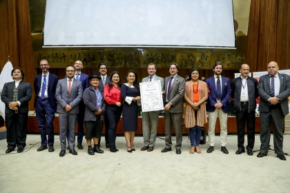 Grupo Parlamentario y organismos internacionales conmemoraron el Día de la Alimentación