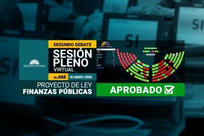 Asamblea aprobó en segundo debate proyecto de Ordenamiento de Finanzas Públicas