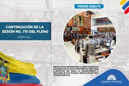 Concluye primer debate de proyecto que establece facilidades de pago para becas y crédito educativo