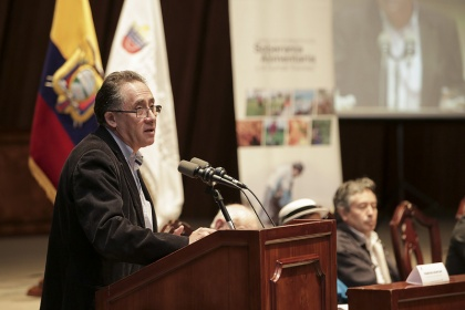 Asambleísta Miguel Carvajal, presidente de la Comisión de Soberanía Alimentaria. Foto - Archivo