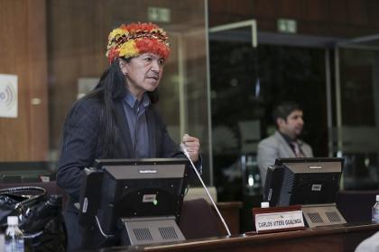 Asambleísta Carlos Viteri, presidente de la Comisión de Biodiversidad.  Foto Archivo