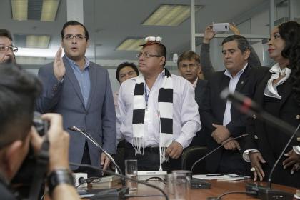 Héctor Yépez y Ángel Gende, presidente y vicepresidente de la Comisión de Participación Ciudadana