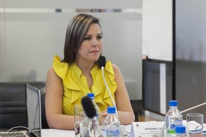 Asambleísta Johanna Cedeño, presidenta de la Comisión de Biodiversidad. Foto - Archivo