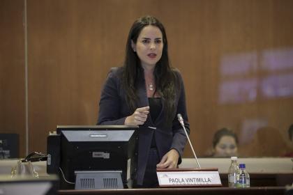 Asambleísta Paola Vintimilla. Foto - Archivo