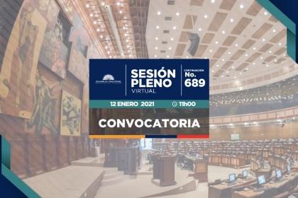 Conintuación de la sesión 689 del Pleno, infomre para primer debate de la Ley de Deporte y dos proyectos de resolución.