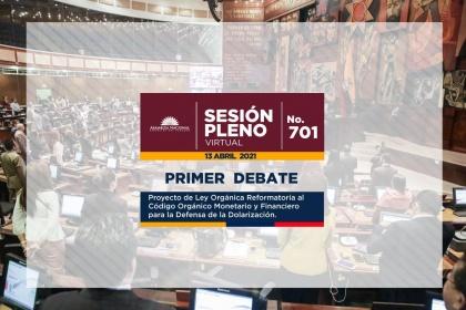 Asamblea avanza en el primer debate de reformas al Código Monetario para la Defensa de la Dolarización