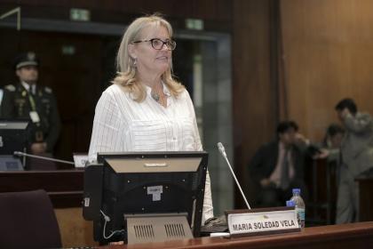 Asambleísta Soledad Vela, integrante de la Comisión de Relaciones Internacionales. Foto - Archivo