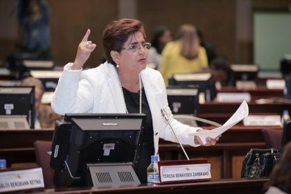 Asambleísta Teresa Benavides. Foto - Archivo