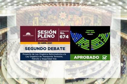 Asamblea aprobó proyecto de reformas a la Ley de Tránsito y Transporte Terrestre