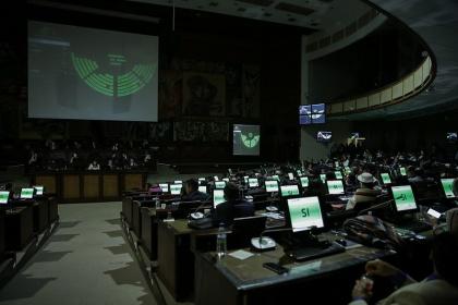 Con 132 votos, el Pleno censuró al excontralor Carlos Pólit