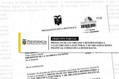 veto parcial al Código de la Democracia