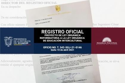 Reformas LOEI en Registro Oficial