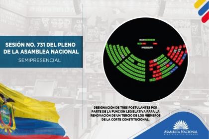 Asamblea designó a tres postulantes para la renovación parcial de la Corte Constitucional