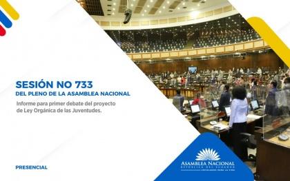 El Pleno de la Asamblea tramitó en primer debate el Proyecto de Ley de Juventudes