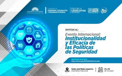 """Comisión de Soberanía organiza encuentro internacional sobre """"Institucionalidad y eficacia de las políticas públicas de seguridad"""""""